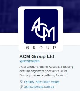 Twitter Profile ACM Group